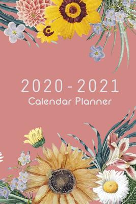 2020-2021 Calendar Planner: Pink Cover And Sun Flower, 24 Months and Weekly Calendar Organizer with Holidays Pocket Size - Stallworth, Joni