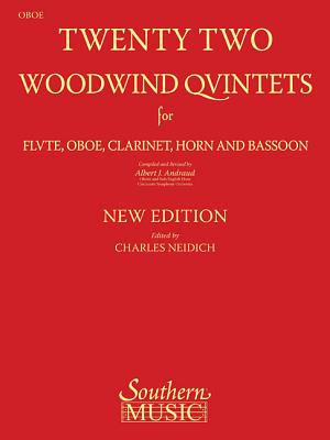 22 Woodwind Quintets - New Edition: Oboe Part - Andraud, Albert