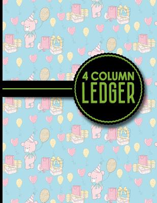 4 Column Ledger: Account Book, Accounting Journal Entry Book, Bookkeeping Ledger For Small Business, Cute Birthday Cover, 8.5 x 11, 100 pages - Publishing, Moito