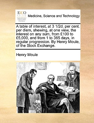 A Table of Interest, at 3 1/2D. Per Cent. Per Diem, Shewing, at One View, the Interest on Any Sum, from 100 to 5,000, and from 1 to 365 Days, in Regular Progression. by Henry Moule, of the Stock Exchange. - Moule, Henry