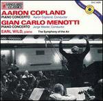 Aaron Copland: Piano Concerto; Gian Carlo Menotti: Piano Concerto