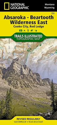 Absaroka Beartooth Wilderness East (Trails Illustrated Map #722) (National Geographic: Trails Illust - National Geographic Maps
