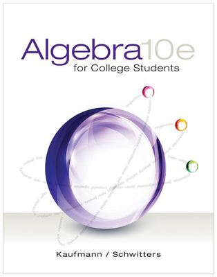 Algebra for College Students - Kaufmann, Jerome E