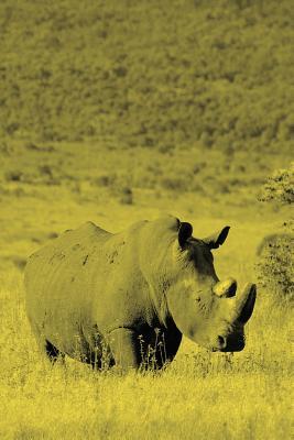Alive! white rhino - Yellow duotone - Photo Art Notebooks (6 x 9 version) - Jansson, Eva-Lotta