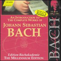 An Introduction to the Works of Johann Sebastian Bach - Andreas Schmidt (vocals); Bine Bryndorf (organ); Boris Pergamenschikow (cello); Christine Schäfer (vocals);...