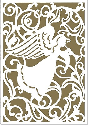 Angel Silhouette (Laser Cut) Small Boxed Holiday Cards -