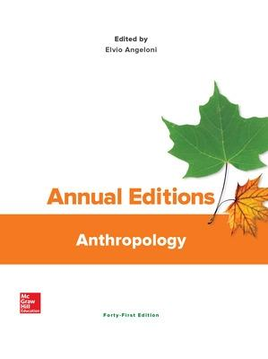 Annual Editions: Anthropology - Angeloni, Elvio, Professor