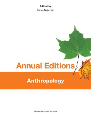 Anthropology - Angeloni, Elvio, Professor (Editor)