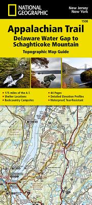 Appalachian Trail, Delaware Water Gap to Schaghticoke Mountain [new Jersey, New York] - National Geographic Maps - Trails Illustrated