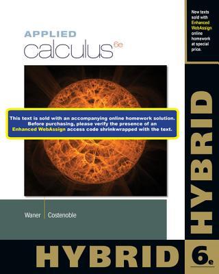 Applied Calculus, Hybrid - Waner, Stefan