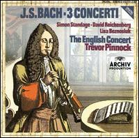Bach: 3 Concerti - David Reichenberg (oboe d'amore); David Reichenberg (oboe); Lisa Beznosiuk (flute); Simon Standage (violin); The English Concert; Trevor Pinnock (harpsichord); Trevor Pinnock (conductor)