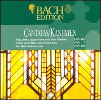 Bach: Cantatas BWV 102, 7 & 196 - Bas Ramselarr (bass); Frank Wakelkamp (cello); John Wilson Meyer (violin); Laura Johnson (violin piccolo); Laura Johnson (violin); Nico van der Neel (tenor); Ofer Frenkel (oboe); Peter Frankenberg (oboe); Ruth Holton (soprano); Sytse Buwalda (alto)