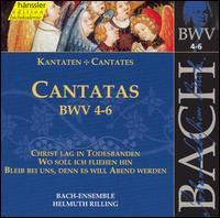 Bach: Cantatas, BWV 4-6 - Adalbert Kraus (tenor); Aldo Baldin (tenor); Arleen Augér (soprano); Carolyn Watkinson (alto); Edith Wiens (soprano);...