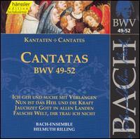 Bach: Cantatas, BWV 49-52 - Arleen Augér (soprano); Philippe Huttenlocher (bass); Stuttgart Bach Collegium; Gächinger Kantorei Stuttgart (choir, chorus);...