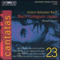 Bach: Cantatas, Vol. 23 - BWV 10, 93, 107, 178 - Makoto Sakurada (tenor); Matthew White (alto); Peter Kooij (bass); Yukari Nonoshita (soprano);...