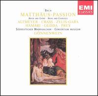Bach: Matthäus-Passion Arias and Choruses - Franz Crass (vocals); Hermann Prey (bass); Julia Hamari (alto); Nicolai Gedda (tenor); Teresa Zylis-Gara (soprano);...