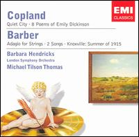 Barbara Hendricks Sings Copland & Barber - Barbara Hendricks (soprano); Christine Pendrill (cor anglais); Maurice Murphy (trumpet); London Symphony Orchestra;...