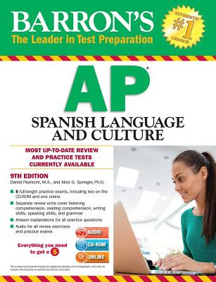 Barron's AP Spanish Language and Culture with MP3 CD & CD-ROM, 9th Edition - Paolicchi, Daniel, and Springer, Alice Gericke