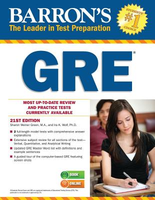 Barron's GRE, 21st Edition - Green, Sharon Weiner