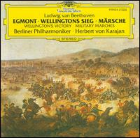 Beethoven: Egmont; Wellingtons Sieg; M�rsche - Erich Schellow (speech/speaker/speaking part); Gundula Janowitz (soprano); Winds of the Berlin Philharmonic;...