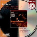 """Beethoven: Piano Concertos Nos. 4 & 5 """"Emperor"""" - Claudio Arrau (piano); Staatskapelle Dresden; Colin Davis (conductor)"""