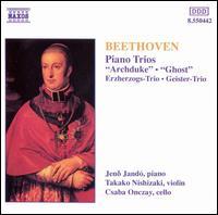 """Beethoven: Piano Trios """"Archduke"""", """"Ghost"""" - Csaba Onczay (cello); Jenö Jandó (piano); Takako Nishizaki (violin)"""