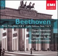 Beethoven: Piano Trios Nos. 4 & 5; Cello Sonatas Nos. 3 & 5 - Daniel Barenboim (piano); Jacqueline du Pré (cello); Pinchas Zukerman (violin); Stephen Kovacevich (piano)