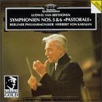 "Beethoven: Symphonies Nos. 5 & 6 ""Pastoral"" [1982] - Berlin Philharmonic Orchestra; Herbert von Karajan (conductor)"