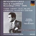 Beniamino Gigli: Rare Recordings (1934-1949)