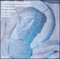 Bernstein: Chichester Psalms; Copland: In the Beginning; Barber: Agnus Dei - Catherine Denley (mezzo-soprano); Dominic Martelli (soprano); Gary Kettel (percussion); Rachel Masters (harp);...