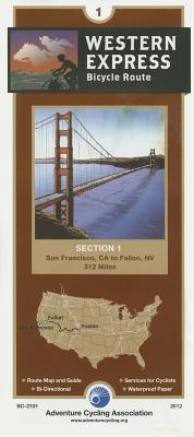 Bicyclee Touring Map: Western Express Section 1 - Adventure Cycling Association