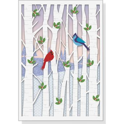Birds in Birches Laser Cut Boxed Holiday Cards - Peter Pauper Press (Producer)
