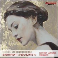 Boccherini: Divertimenti; Oboe Quintets - Diemut Poppen (viola); Eckart Haupt (flute); Esko Laine (double bass); Götz Teutsch (cello); Lajos Lencses (oboe);...