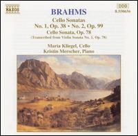 Brahms: Cello Sonatas - Kristin Merscher (piano); Maria Kliegel (cello)