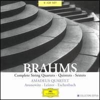 Brahms: Complete String Quartets, Quintets & Sextets [Box Set] - Amadeus Quartet; Cecil Aronowitz (viola); Christoph Eschenbach (piano); Georg Donderer (cello); Karl Leister (clarinet);...