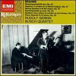 Brahms: String Quartet 3in B flat major, Op. 67; Piano Quartet in G minor, Op. 25