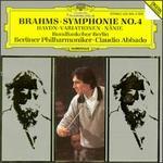 Brahms: Symphonie No. 4; Haydn-Variationen; Nänie - Berlin Philharmonic Orchestra; Berlin Radio Children's Chorus (choir, chorus)