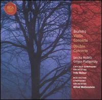 Brahms: Violin Concerto; Double Concerto - Gregor Piatigorsky (cello); Jascha Heifetz (violin)