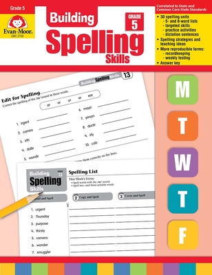 Building Spelling Skills Grade 5 - Evan-Moor Educational Publishers