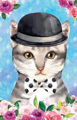 Bullet Journal for Cat Lovers Chic Cat in a Bowler Hat: Graph Design - 162 Numbered Pages with 150 Graph Style Grid Pages, 6 Index Pages and 2 Key Pages in Easy to Carry 5.5 X 8.5 Size - Scales, Maz