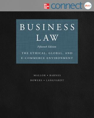 Business Law with Connect Plus - Mallor, Jane, and Barnes, A James, and Bowers, L Thomas