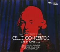C.P.E. Bach: Cello Concertos; Symphony H.648 - Ensemble Resonanz; Jean-Guihen Queyras (cello); Riccardo Minasi (conductor)