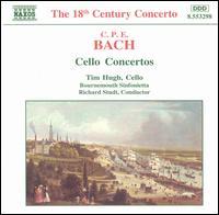 C.P.E. Bach: Cello Concertos - Timothy Hugh (cello); Bournemouth Sinfonietta; Richard Studt (conductor)