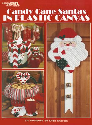 Candy Cane Santas in Plastic Canvas - Martin, Dick
