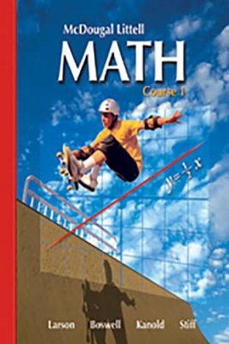 Mcdougal littell middle school math course 1 2007 by timothy mcdougal littell middle school math course 1 2007 by timothy kanold laurie boswell ron larson and lee stiff 2007 hardcover student edition of fandeluxe Gallery