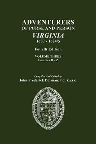 Adventurers Of Purse And Person Virginia 1607 1624 5 Vol