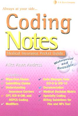 Coding Notes: Medical Insurance Pocket Guide - Andress, Alice Anne, CCP