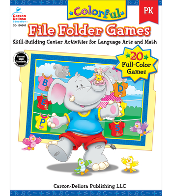 Colorful File Folder Games Grade PK: Skill-Building Center Activities for Language Arts and Math - Olson Pressnall, Debra