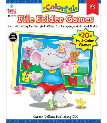 Colorful File Folder Games Grade PK: Skill-Building Center Activities for Language Arts and Math - Olson Pressnall, Debra