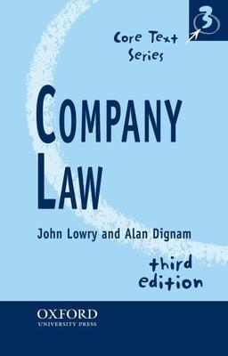 Company Law - Lowry, John P